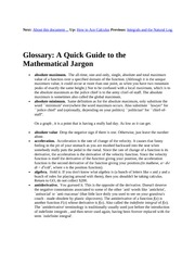 15 Glossary-A Quick Guide to the Mathematical Jargon