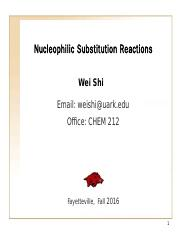 7 Nucleophilic substitution reactions of RX before class