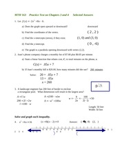 Practice test chapters 3 and 4 answers