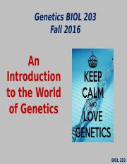 Lecture #1 Fall 2016- Introduction to Genetics.pptx