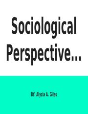 Sociological Perspective...