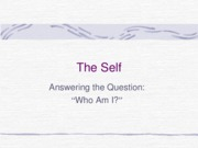 Ch 4 The Self pt1
