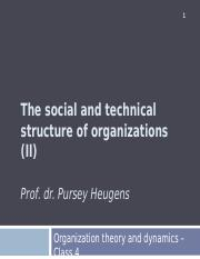Lecture 4  - The social structure of organizations II (1)
