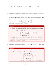 Answers to Regularised Linear Model Problem Set (Solutions)