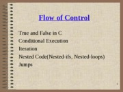 lecture 2-flow of control