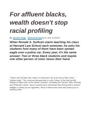For affluent blacks, wealth doesn't stop racial profiling.docx