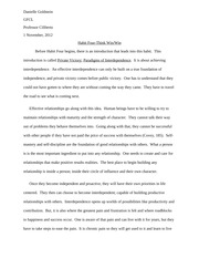 Habit 4 Essay - Public Victory: Paradigms of Interdependence