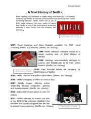 Final Draft - History of Netflix
