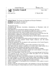 Resolution to the Problem in Iraq Historical Security Council