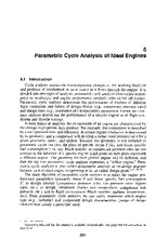 Chapter 5 - Parametric Cycle Analysis of Ideal Engines