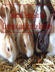 Animal Testing in the Cosmetic and Science Industry.pptx