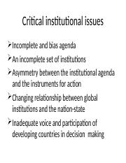 Critical institutional issues.pptx