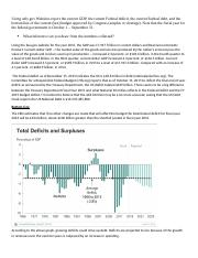 GDP Federal Deficit Homework Week 3 Finance 100