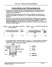 CivE-313-T-Beam Analysis-Extra Notes
