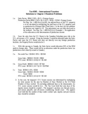 Chapter3Handout Solutions 2008