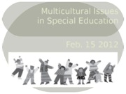 (4) Multicultural Issues in Special Education
