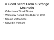 A Good Scent From a Strange Mountain ENG 220