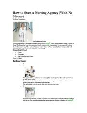 nursing sympathy agreement of plan