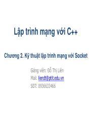 LTM_Chuong2 pdf - Lập trình mạng với C Chương 2 Kỹ thuật lập