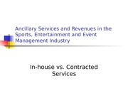 In-house vs. Contracted Services