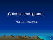 Chinese Immigrants(2)