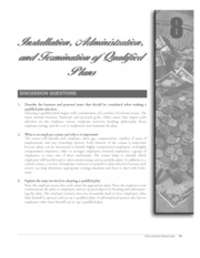 chapter 8 installation, administration, and termination of qualified plans