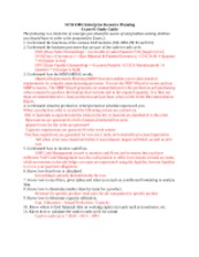 SCM 4380 Exam 2 Review Sheet