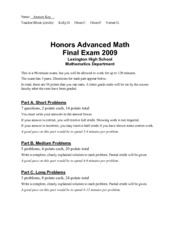advmath-hon-finalexam2009-answers