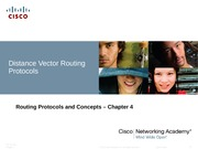 Routing Protocols and Concepts (Distance Vector Protocols)