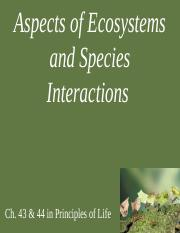 5 Aspects of Ecosystems and Species Interactions