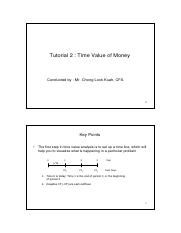 Tutorial 2 Time Value of Money (Financial calculator)