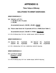Appendix G Solutions Pdf Appendix G Time Value Of Money Solutions To Brief Exercises Brief Exercise G 1 A Interest P X I X N I 6 000 X 05 X 12 Course Hero