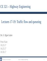 4 - Lectures 17-19- Traffic flow and queueing.pdf