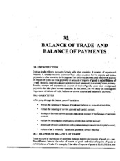 L-35 BALANCE OF TRADE AND BALANCE OF PAYMENTS