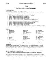 Lab #13 - Differential Tests & Biochemical Analysis, Micro 20.pdf