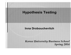 S14STAT Lec 23-25 - Hypothesis Testing