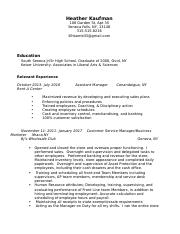 2 pages manager resume 2017