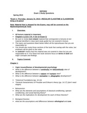 Developmental Psychology Study Guide for Exam Biological foundations and Research