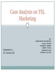 Case Analysis on YSL Marketing