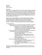 Comm107-Interview Outline