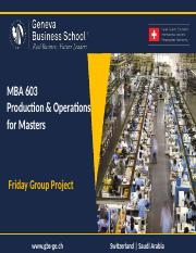 MBA 603 - Group Project - Case Study