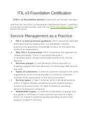 ITIL v3 Foundation Certification notes