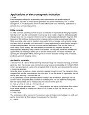 PY106 Chapter 11: Applications of electromagnetic induction