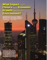 What impact might China's rapid economic growth have on the environment.pdf