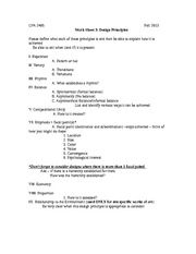 Worksheet 3 Design Principles