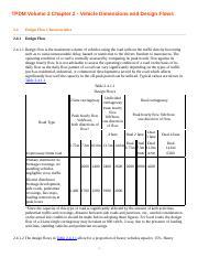 Tpdm 2010 Vol2 2c Ch2 4 Pdf Tpdm Volume 2 Chapter 2 Vehicle Dimensions And Design Flows 2 4 Design Flow Characteristics 2 4 1 Design Flow 2 4 1 1 Course Hero