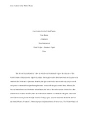 COM 220 Week 9 Final Project-Gun Control in the United States(2100 words APA with references)