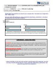 PETER MIHOK_S40054723_EFFECTIVE LEADERSHIP_ASSIGNMENT2.docx