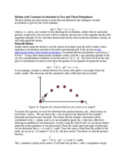 Motion with Constant Acceleration in Two and Three Dimensions