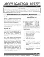 Practical Thermocouple Temperature Measurements, DataForth Inc